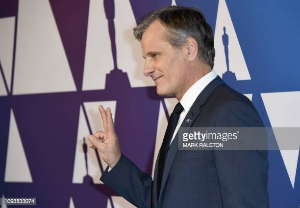 Lead Actor nominee for Green Book Viggo Mortensen arrives for the 91st Oscars Nominees Luncheon at the Beverly Hilton hotel on February 4 2019 in...