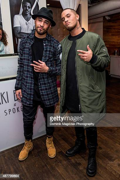 Lead actor Tia Maipi and Artist Stan Walker of 'Born to Dance' attends Stan WalkerÕs performance of his new single 'Start Again' during 2015 TIFF at...