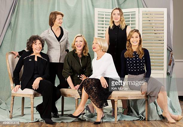 Lead Actress roundtable actresses Cate Blanchett Charlotte Rampling Helen Mirren Saoirse Ronan Lily Tomlin and Brie Larson are photographed for Los...