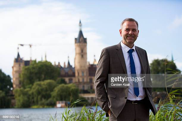 Lead candidate LeifErik Holm of the Alternative for Germany a newcomer populist party that also attracts rightwing voters poses for press before the...