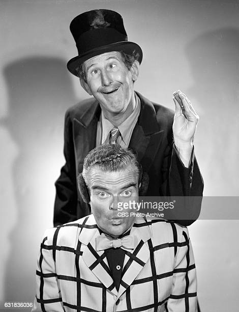 Lead cast members of the CBS Radio program, The Spike Jones Show, , featuring Doodles Weaver and musician Spike Jones. Hollywood, CA. Image dated...