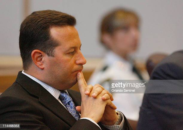 Lead defense counsel Jose Baez reacts as Judge Belvin Perry dismisses a potential juror following an outburst by a spectator during jury selection in...