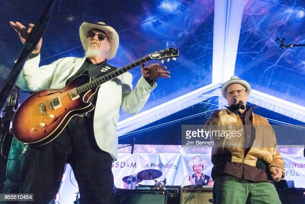 Lead guitarist and vocalist Ray Benson of Asleep At The Wheel and singersongwriter and guitarist Delbert McClinton perform live on stage at Ray's...