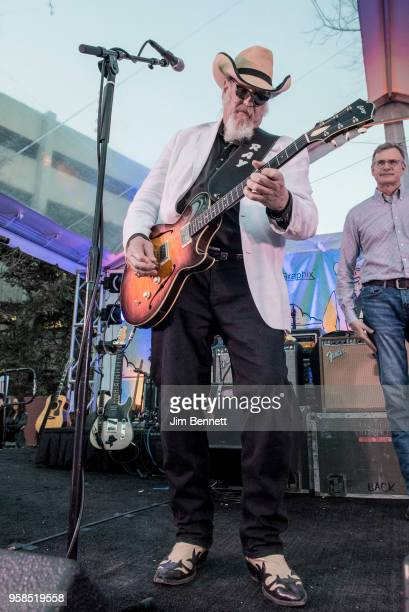 Lead guitarist and vocalist Ray Benson of Asleep At The Wheel performs live on stage at his 67th birthday party concert benefiting Health Alliance...