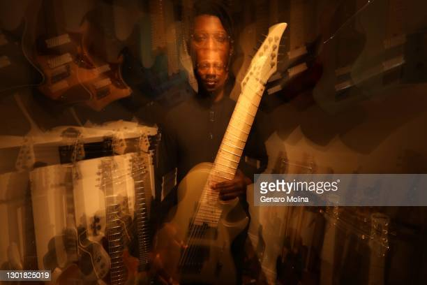 Lead guitarist for Animals as Leaders, Tosin Abasi is photographed for Los Angeles Times on June 17, 2020 in Los Angeles, California. PUBLISHED...