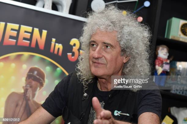 Lead guitarist of Queen Brian May signs copies of his new book 'Queen in 3D' at Book Soup on August 24 2017 in West Hollywood California
