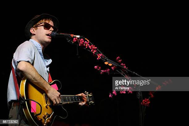 Lead Guitarist Scott McMicken of Dr Dog performs during the 31st annual Celebrate Brooklyn Summer Season at Prospect Park Bandshell on June 27 2009...