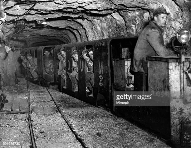 Lead Mine Rhydymwyn near Mold Flintshire Wales 5th March 1938 Miners return to surface