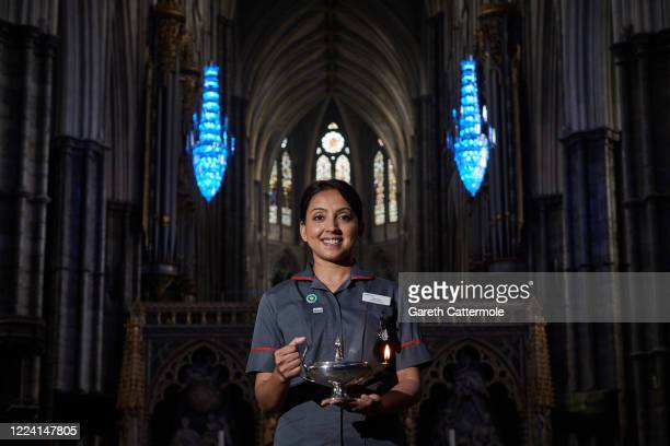 Lead Research Nurse, Arlene Lee poses for a picture inside the nave at Westminster Abbey on May 11, 2020 in London, England. Ms. Lee works for NIHR...