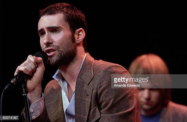 Lead singer Adam Levine of Maroon 5 performs after the band announced they would be headlining the 5th Anniversary Honda Civic Tour on January 27...
