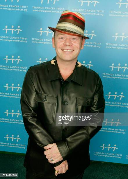 Lead singer Ali Campbell of band UB40 poses backstage prior to their performance at the final night of 5 charity gigs in aid of the Teenage Cancer...