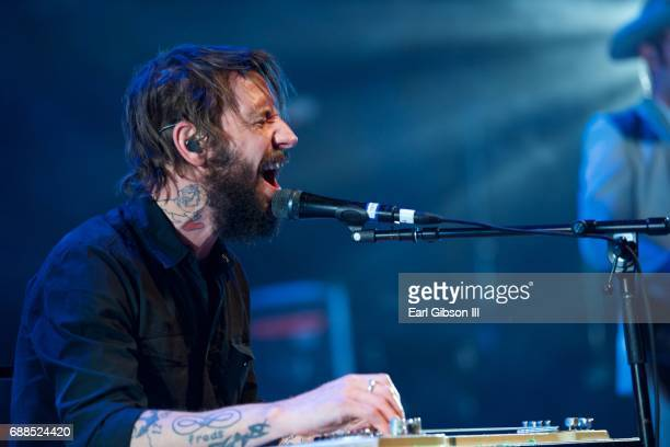 Lead singer Ben Bridwell performs with Band of Horses at The Greek Theatre on May 25 2017 in Los Angeles California