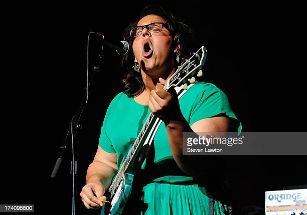 Lead singer Brittany Howard of Alabama Shakes performs at The Pearl concert theater at the Palms Casino Resort on July 19 2013 in Las Vegas Nevada