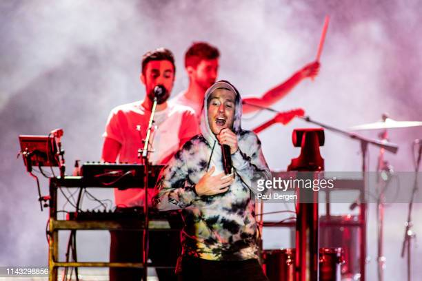 Lead singer Dan Smith of British alternative rock band Bastille performs on stage at Ziggo Dome Amsterdam Netherlands 10th March 2019