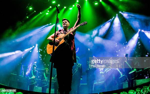 Lead singer Danny O'Donoghue of the The Script performs at the Ziggo Dome on March 15 2018 in AmsterdamNetherlands