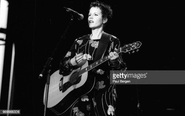 Lead singer Dolores O'Riordan of Irish rock band The Cranberries performs at Rock Torhout festival Torhout Belgium 1st July 1995
