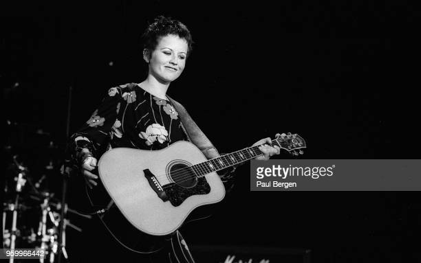 Lead singer Dolores O'Riordan of Irish rock band The Cranberries performs at Rock Torhout festival, Torhout, Belgium, 1st July 1995.