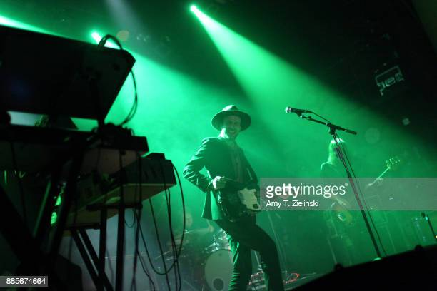 Lead singer Finn Andrews and bassplayer Sophia Burn of the Londonbased band The Veils perform at Islington Assembly Hall on December 4 2017 in London...