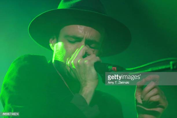 Lead singer Finn Andrews of the Londonbased band The Veils performs at Islington Assembly Hall on December 4 2017 in London England