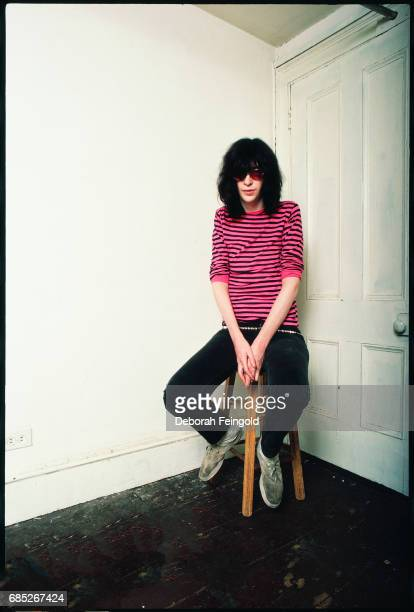 Lead singer for the The Ramones musician Joey Ramone poses for a portrait in 1983 in New York City New York