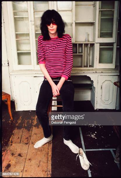 Lead singer for the The Ramones, musician, Joey Ramone poses for a portrait in 1983 in New York City, New York.