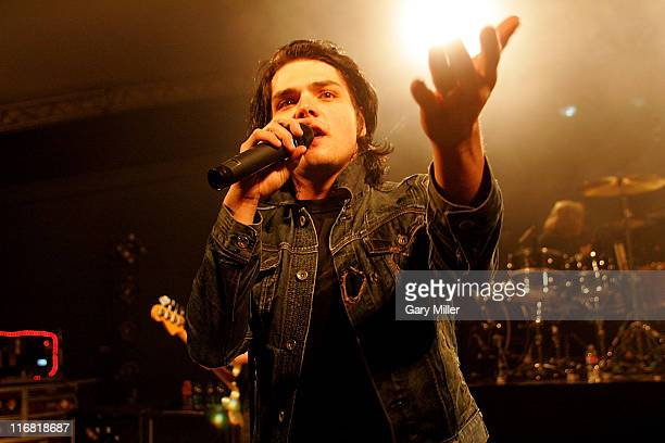 Lead singer Gerard Way of My Chemical Romance performs at Stubb's in Austin Texas on April 28th 2008