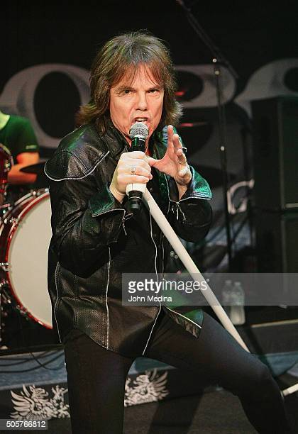 Lead singer Joey Tempest of Europe performs at Rockbar Theater on January 19 2016 in San Jose California