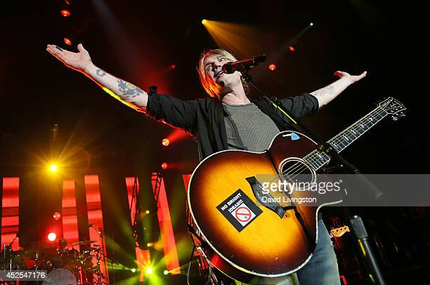 Lead singer John Rzeznik of The Goo Goo Dolls performs on stage at The Greek Theatre on July 22 2014 in Los Angeles California