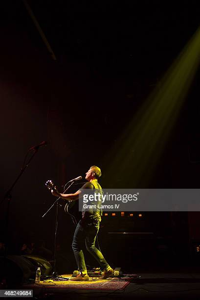 Lead singer John Vesely of Secondhand Serenade performs at Gramercy Theatre on March 31, 2015 in New York City.
