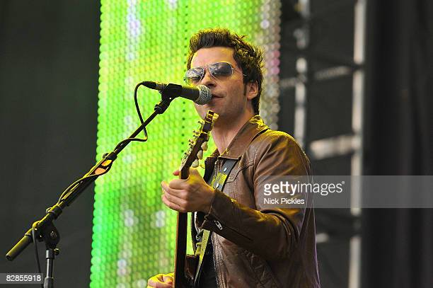 Lead singer Kelly Jones of the Stereophonics performs onstage during Day One of the T In The Park music festival on July 11, 2008 in Kinross,...