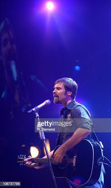 Lead Singer Mac Powell of the band Third Day during Third Day and TobyMac in Concert at Philips Arena October 7 2004 at Philips Arena in Atlanta...