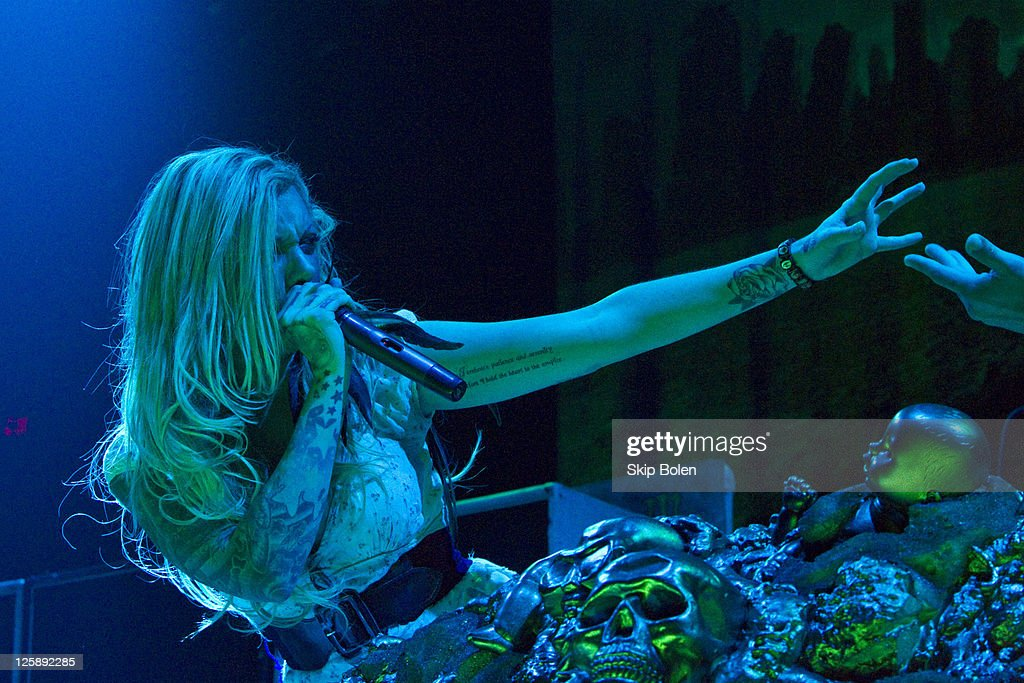 Lead singer Maria Brink of In the Moment performs at the Mississipi Coast Coliseum on February 5, 2011 in Biloxi City.