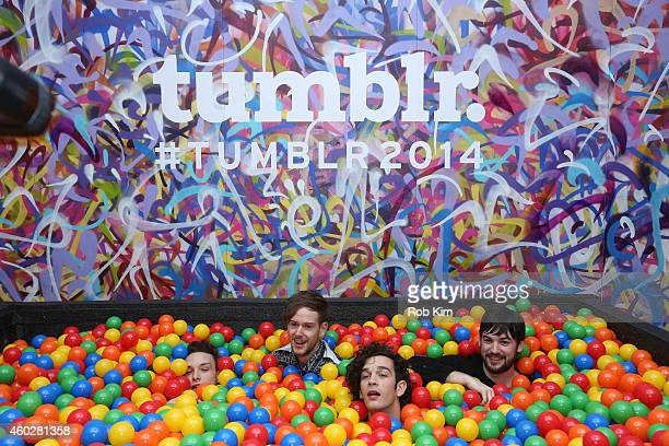Lead singer Matt Healy and band The 1975 attend Tumblr's Year In Review 2014 at Brooklyn Night Bazaar on December 10 2014 in New York City