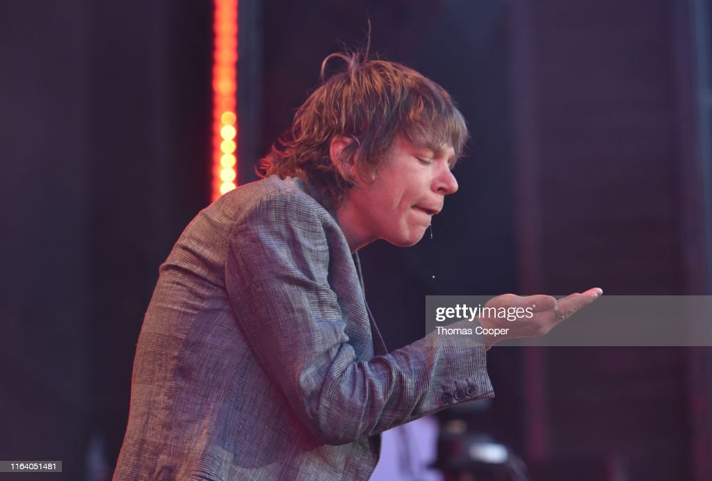 Lead Singer Matt Shultz With Cage The Elephant Performs On