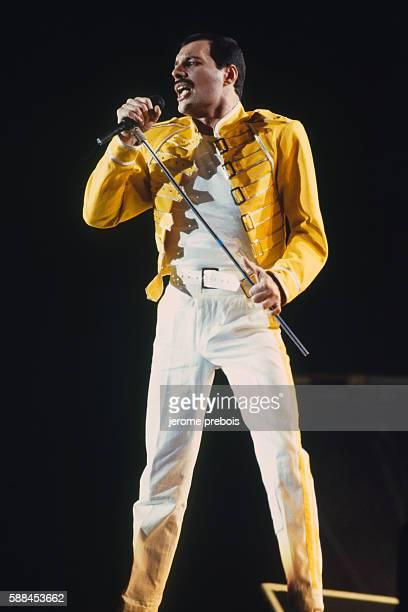 Lead Singer of British Rock Group Queen Freddie Mercury