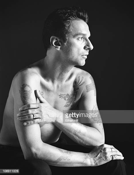 Lead Singer of Depeche Mode Dave Gahan is photographed for Blender Magazine.