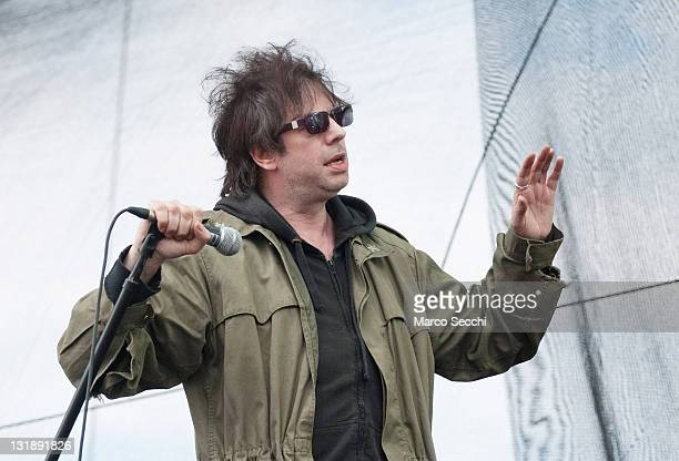 Lead singer of Echo and the Bunnymen Ian McCulloch performs during the 2011 Heineken Jammin' Festival at Parco San Giuliano on June 9 2011 in Mestre...