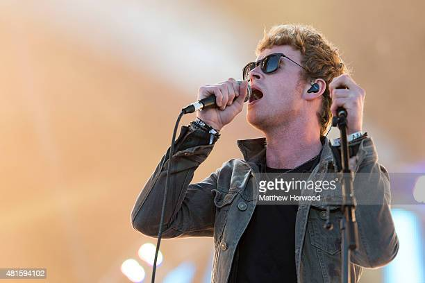 Lead singer of Kodaline Steve Garrigan performs on stage during the MTV Crashes Plymouth concert at Plymouth Hoe on July 22 2014 in Plymouth England