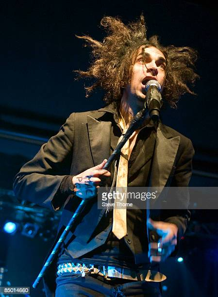Lead singer of Mindless Self Indulgence Jimmy Urine performs on stage at the O2 Academy on January 29, 2009 in Birmingham, England.