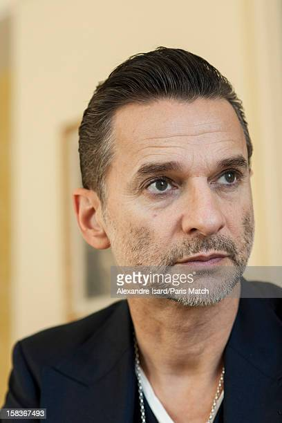 Lead singer of rock band Depeche Mode Dave Gahan is photographed for Paris Match on November 25 2012 in Paris France