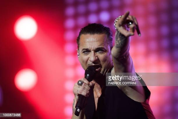 Lead singer of the English electronic band Depeche Mode Dave Gahan performs at the 43rd Paleo music festival on July 17 2018 in Nyon western...