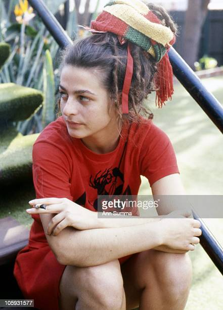 Lead singer of the Slits Ari Up poses for a portrait session at the Tropicana Hotel on November 20 1980 in Hollywood California