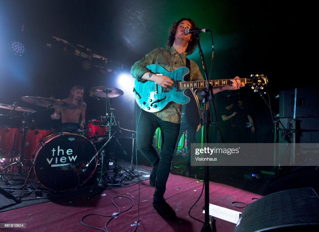 Lead singer of The View, Kyle Falconer performs with the band at the