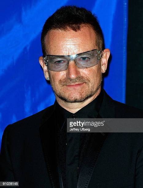 Lead singer of U2 Bono attends the 2009 Appeal of Conscience Foundation Awards at The Waldorf=Astoria on September 22 2009 in New York City