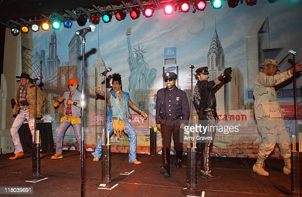 Lead singer Ray Simpson performing with the 2006 lineup of disco group Village People at the 2006 Rick Weiss Humanitarian Awards Presented by the...
