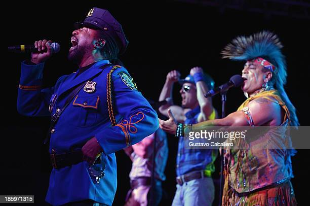 Lead singer Ray Simpson performing with the 2013 lineup of American disco group Village People at the 13th Annual Footy's Bubbles Bones Gala at...