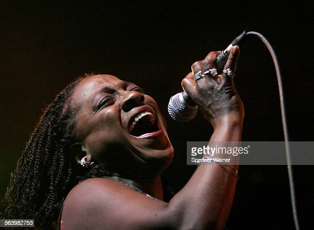 Lead singer Sharon Jones of the Dap Kings performs at Coachella. This is the 9th annual Coachella Valley Music and Arts Festival in Indio. CA. Held...