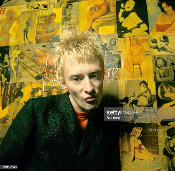 Lead singer Thom Yorke of the British alternative rock band Radiohead poses for October 1993 portraits in New York City New York