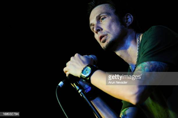 Lead singer Thomas Flowers performs during Oleander concert at Ace of Spades on May 3 2013 in Sacramento California
