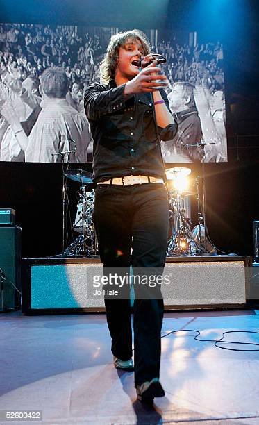 Lead singer Tom Chaplin of Keane performs at the fourth in a series of 5 charity gigs in aid of the Teenage Cancer Trust which runs from April 4 to...